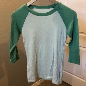 Forever 21 Tops - Green Baseball Tee